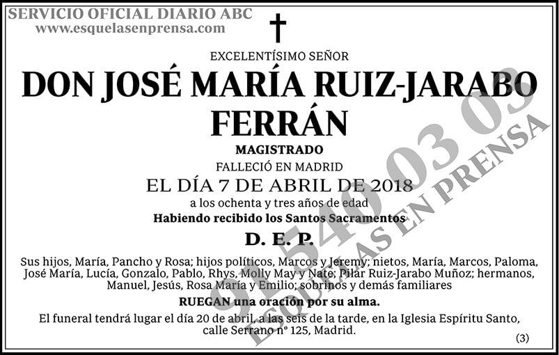 José María Ruiz-Jarabo Ferrán